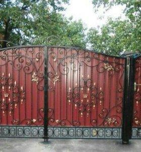 Ворота худож. ковка.