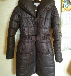 Пальто женское зимнее теплое H&M 44 р-р