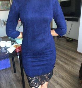 Платье 👗 замша новое