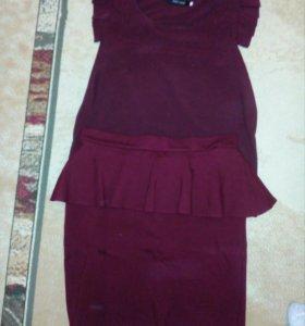 Костюм, юбка+блузка
