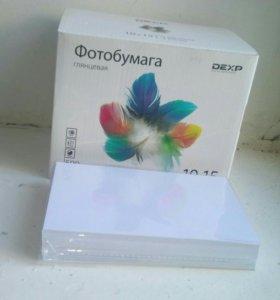 Фотобумага DEXP глянцевая 10х15 см 210 г/см 100 ли