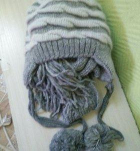 Шапочка и шарфик комплект!