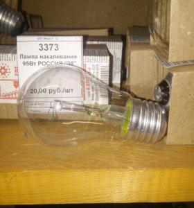 Лампа накаливания ассортимент от 40Вт