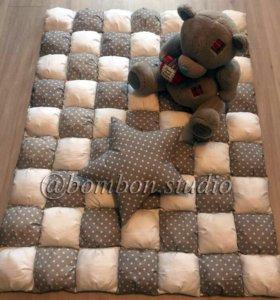 Одеялко-бомбон и подушка в подарок