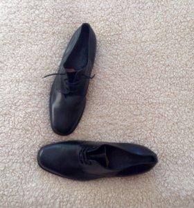 Новые туфли кожа + подарок б/у туфли кожа