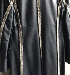 Пальто кожаное  Ferre