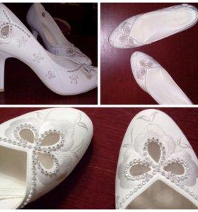 Свадебные туфли. Б/у только загс.