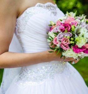 Свадебное белоснежное платье!