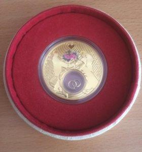 Монета свадебная