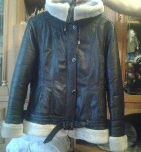 Куртка зимняя нат.кожа