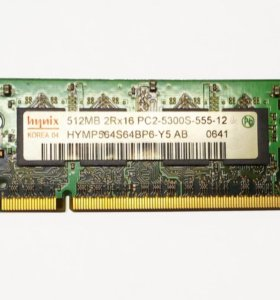 Память для ноутбука Hynix DDR2 SO-DIMM 512 Mb