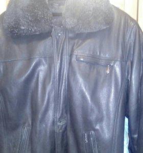 Куртка кожаная с подстежкой из овчины