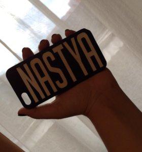 Чехол на iPhone 5/5s с именем Настя.