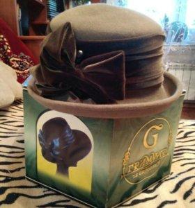 Шляпа женская фетровая б/у