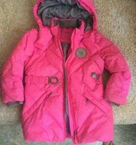 Зимний костюм для девочки, р 92-98