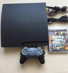 Sony PlayStation 3 slim + ГТА5 диск