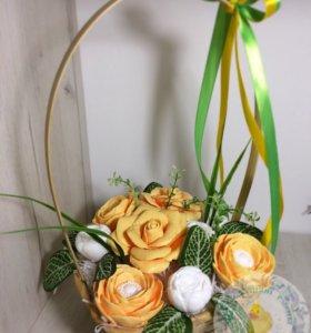 Мыло ручной работы «Корзинка с цветами »