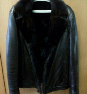 Куртка зимняя зам кожа