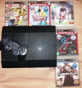 PlayStation3 (1 джойстик) + 8 игр + PSMove