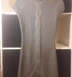 Платье новое вязанное с водолазкой