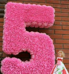 Аренда цифры 5 на день рождения!