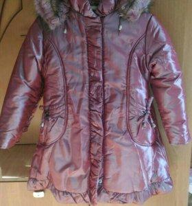 Пальто для девочки, р.122, новое