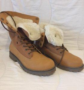 Зимние ботинки( полностью натуральные)