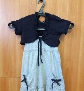 Комплект-летнее платье и балеро.