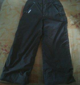 Детские зимние болоньевые брюки