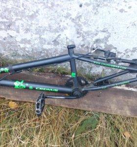 BMX рама с комплектующими