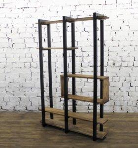 Стеллаж high wood в стиле Loft