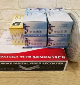 Комплект видеонаблюдения для улицы на 4 камеры AHD