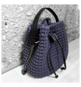 Вязаная сумка - торба (мешок), на заказ