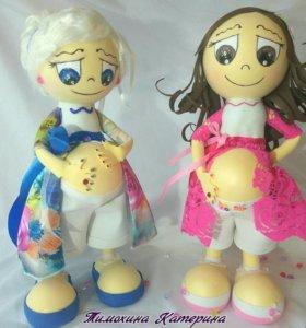 Кукла ждёт малыша, сувенир родителям, подарок
