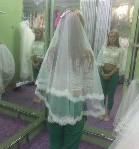 Свадебный топ, юбка и фата
