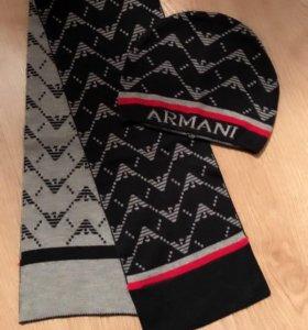 Шапка и шарф Armani