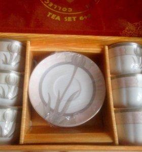 Сервиз - чашки для чая или кофе с блюдцами