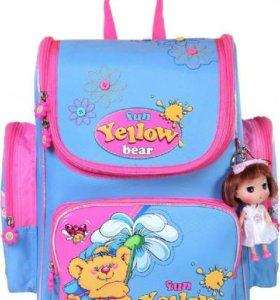 Ранец для девочки, FUN YELLOW BEAR K016