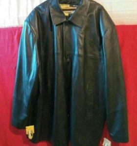 Новая Куртка кожаная 64 р.