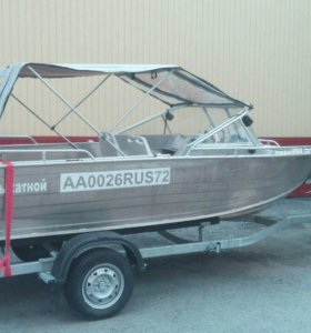 Тент- трансформер ходовой на лодку (катер)