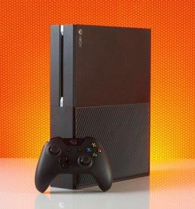 Xbox one + игры + 2 геймпада