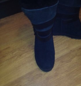 Зимние ботиночки замша