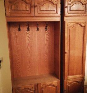 Деревянная прихожая из 3 шкафов