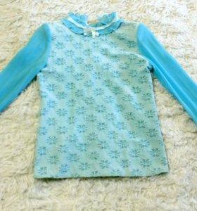 Блуза нарядная бирюзового цвета