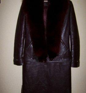 Пальто кожаное пехора