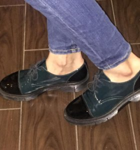 Ботинки кожаные осенние 24 см