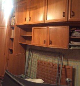 Стенка (шкафы+односпальная кровать)