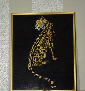 "Картина из страз ""Гепард""."