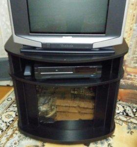 Телевизор HARP 2000руб,тумба под телевизор 1500руб
