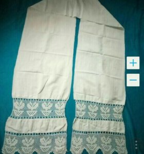 19 век рушник полотенце с инициалами Антиквариат
